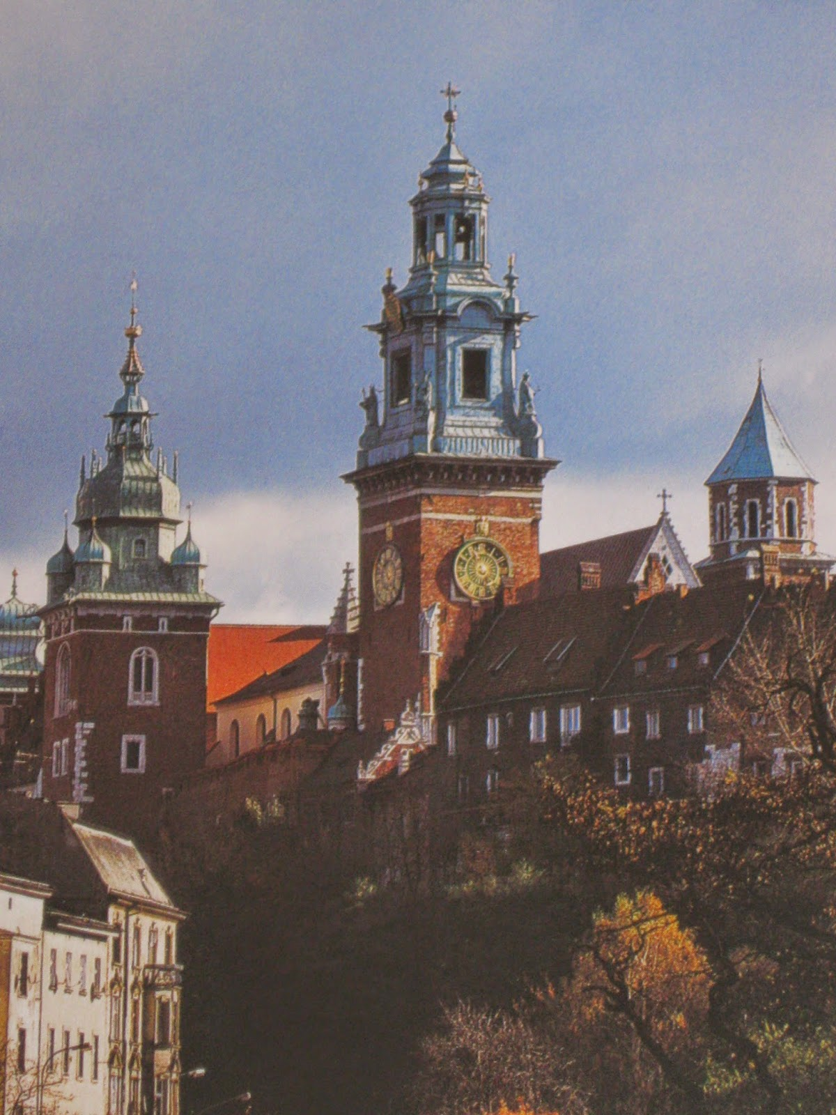 The three towers of Wawel Cathedral, Krakow