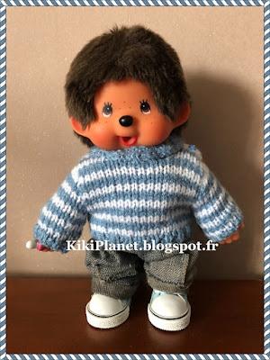kiki monchhichi fait main handmade tricot pull knitting pull