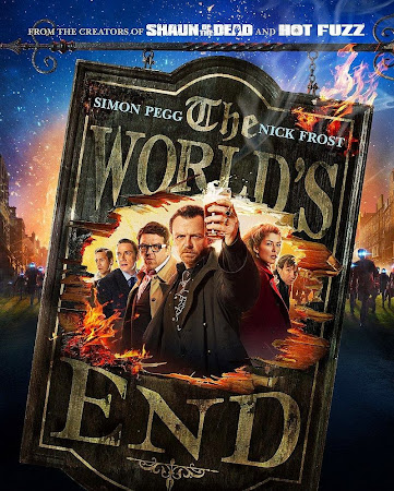 Poster Of Free Download The World's End 2013 300MB Full Movie Hindi Dubbed 720P Bluray HD HEVC Small Size Pc Movie Only At worldfree4u.com