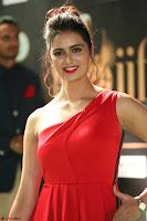 Meenakshi Dixit in Red One Shoulder Red Zipped up gown at IIFA Utsavam Award 61.JPG