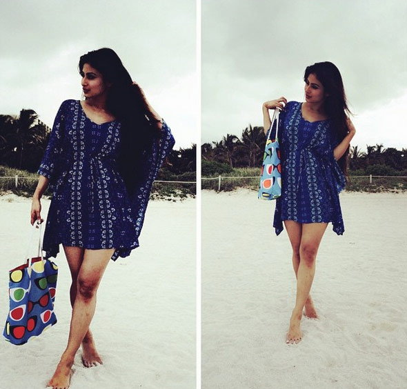 Mouni Roy in blue dresses