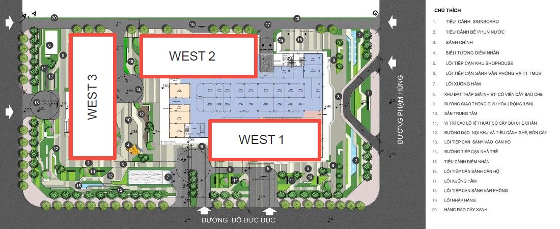 Tòa W2 Vinhomes West Point Đỗ Đức Dục