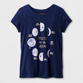 Cool Science STEM Moon Phase Shirt for Kids