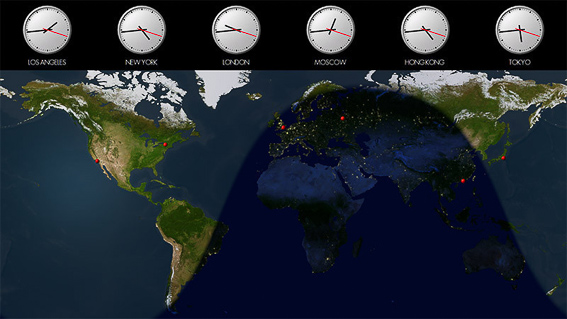 Diferencias horarias en el mundo