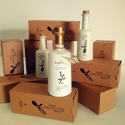 cajas para una botella de aceite