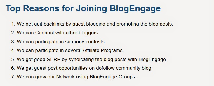 Why You Should to join BlogEngage : eAskme