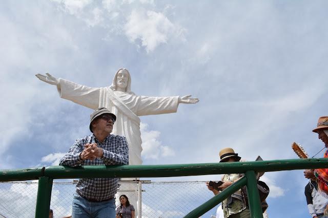 Cusco Aziz İsa heykeli