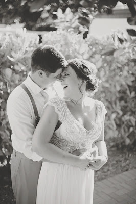 Romantic South Seas Wedding with bride and groom