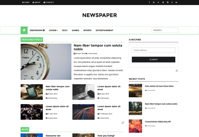 newspaper responsive blogger template blogger templates gallery