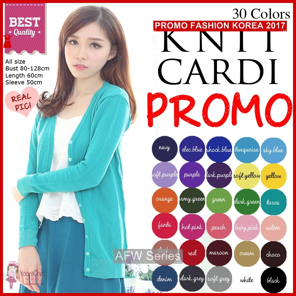 BAMFGW003 All Knit Cardigan Wanita PROMO BMG