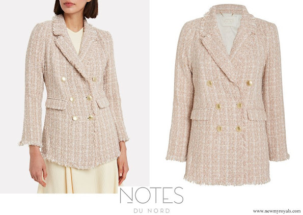 Crown Princess Mary wore NOTES DU NORD Lex Metallic Tweed Blazer