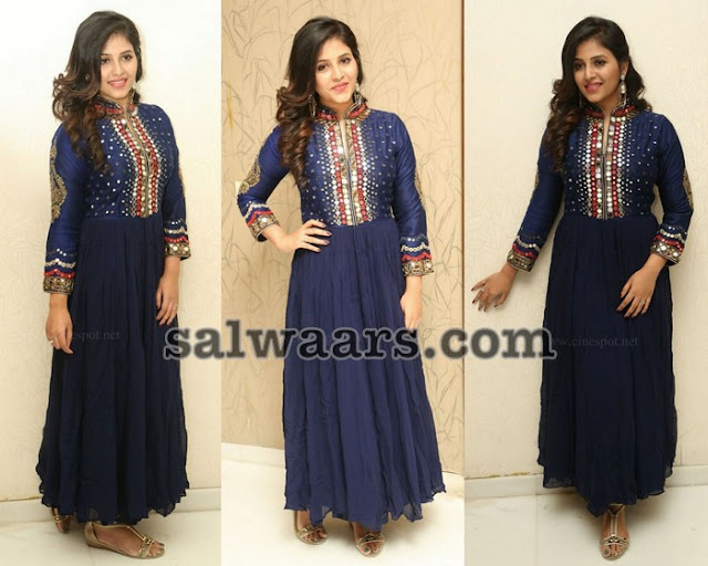 Anjali Mirror Work High Neck Salwar