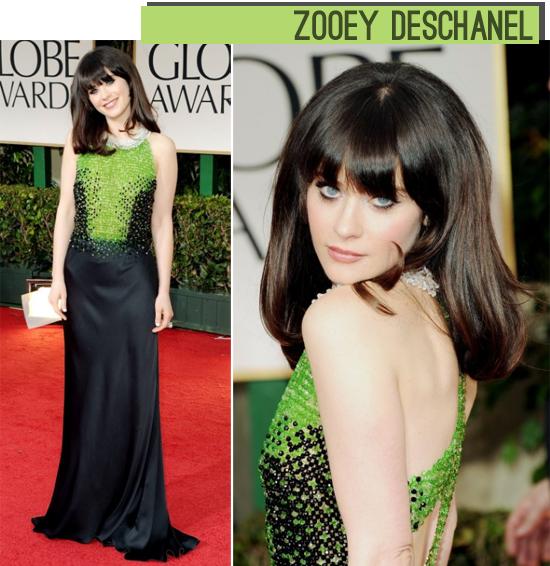 Zooey Deschanel Golden Globes 2012