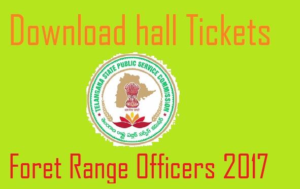 Forest range officer Hall Ticket