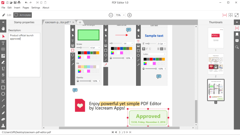 IceCream PDF Editor 1.20