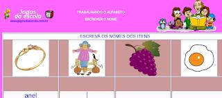 http://www.jogosdaescola.com.br/play/atividades/atividades_portugues/completar_palavras_22.html
