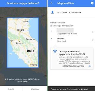 Schermata mappe