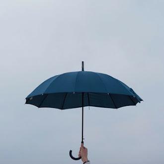  Ele comprou um guarda-chuva
