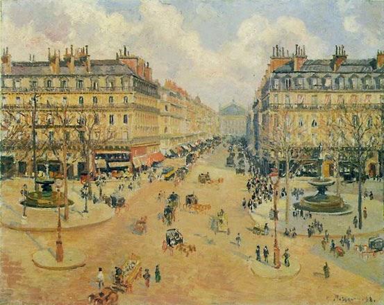 Avenida de la Ópera de París.. Pissarro