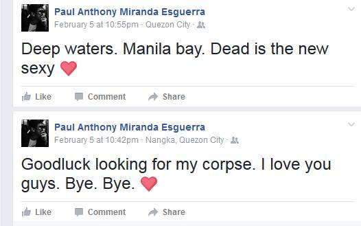 SHOCKING! A Teacher in Marikina Announces His Own Death on Facebook Then Mysteriously Disappears!