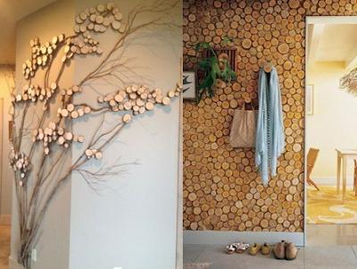 Hiasan kayu berbentuk lukisan 3 dimensi