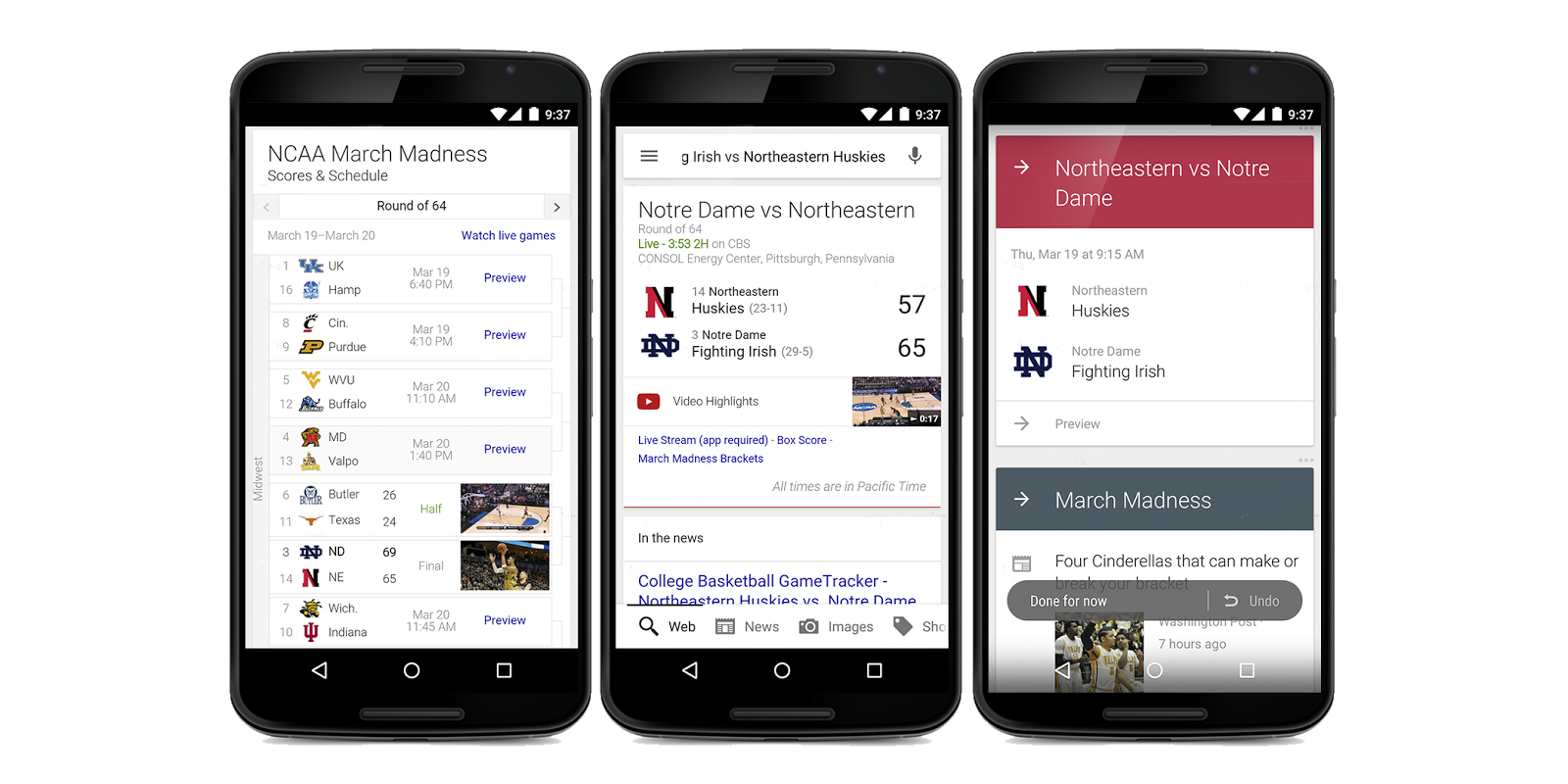 Inside Search: Follow the NCAA Tournament with the Google app