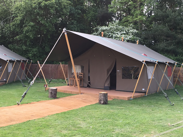 Premium tent at Chessington World of Adventures glamping site