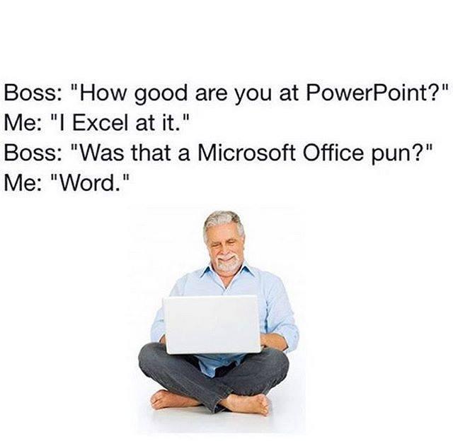 Microsoft Office pun
