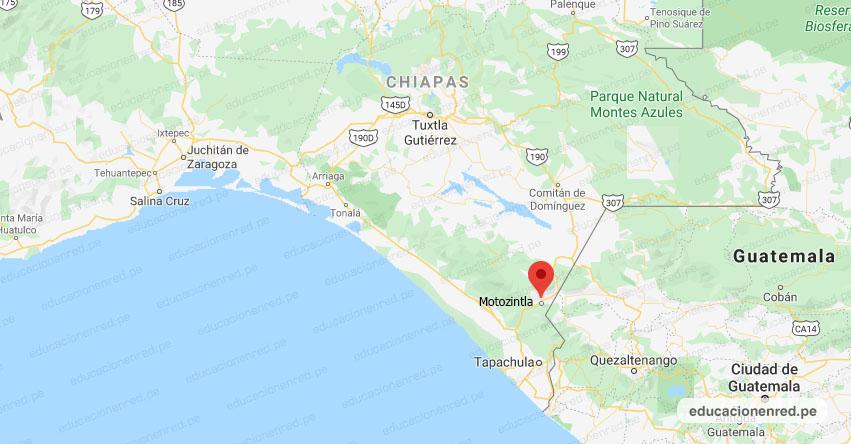 Temblor en México de Magnitud 4.3 (Hoy Miércoles 18 Marzo 2020) Sismo - Epicentro - Motozintla - Chiapas - CHIS. - SSN - www.ssn.unam.mx