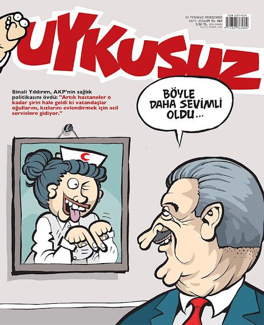 Uykusuz Dergisi - 14 Temmuz 2016 Kapak Karikatürü