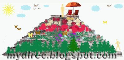 Цветочная клумба - мексиканская пирамида