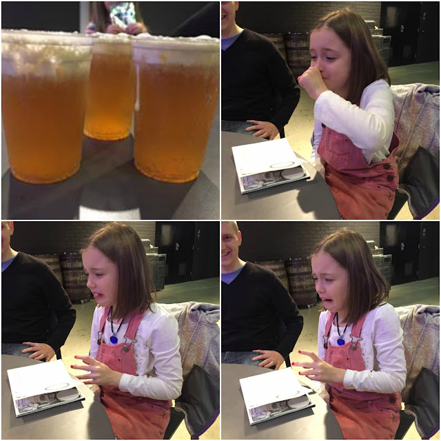 Kacy trying Butter Beer