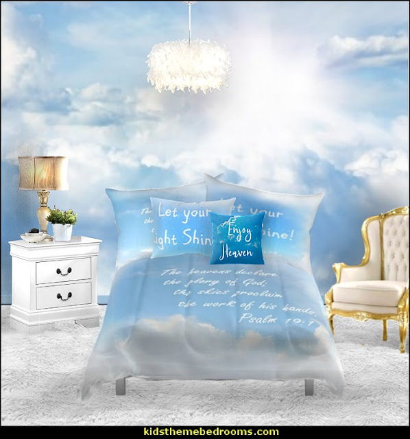 christian bedding angel theme bedrooms  Jesus for kids - Bible Stories wall murals - Christian Bible Verse wall decal stickers - Christian home decor - bible verse wall art -  inspirational bedding - Christian bedding - Christian kids toys - Lion and Lamb toddler beds -  bible stories for kids - Christening Baptism Gifts - Psalm bedding - Scripture throw pillows - bible verse throw pillows -  Vacation Bible School Decorations