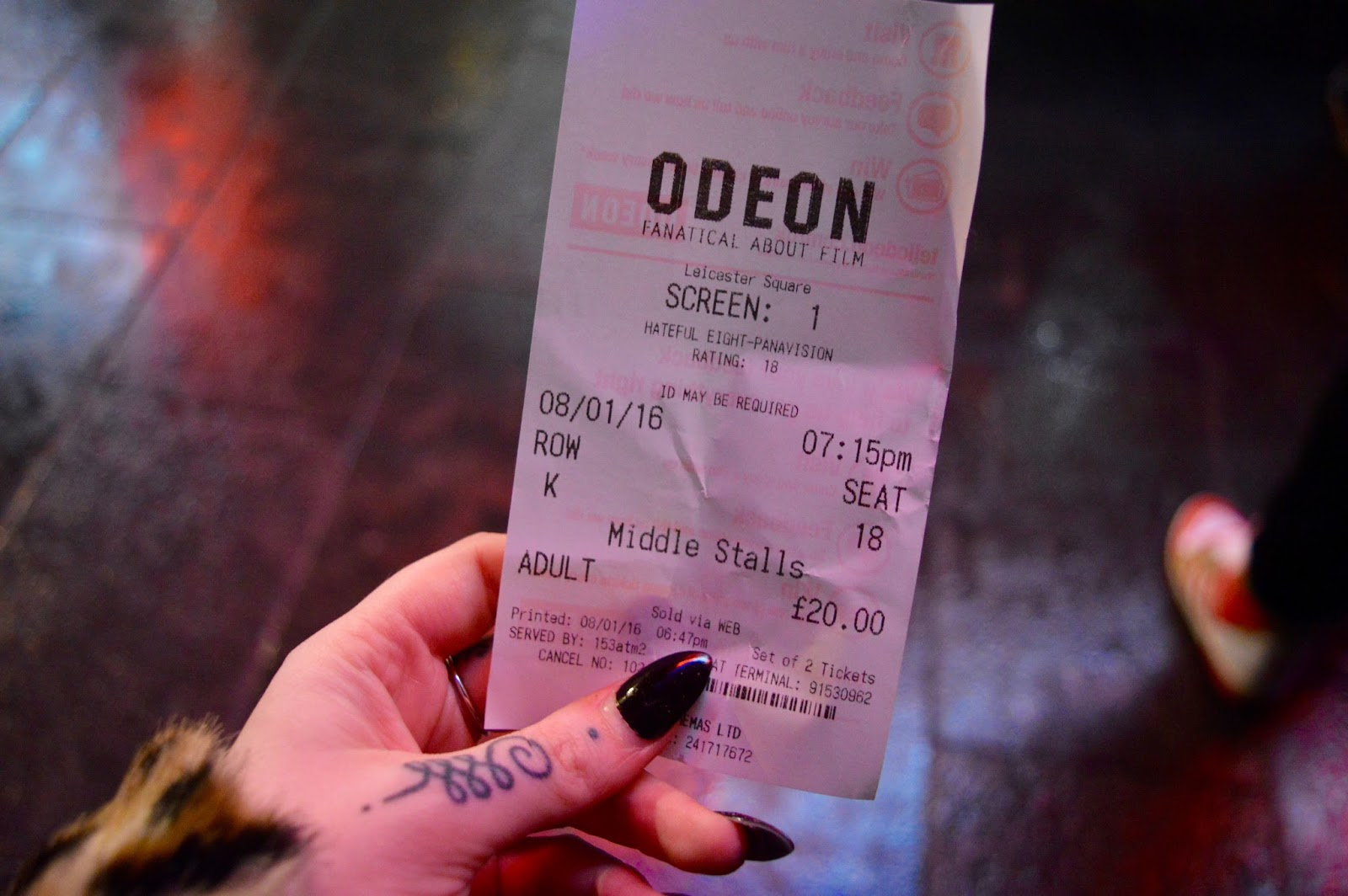 The Hateful Eight 70mm Odeon