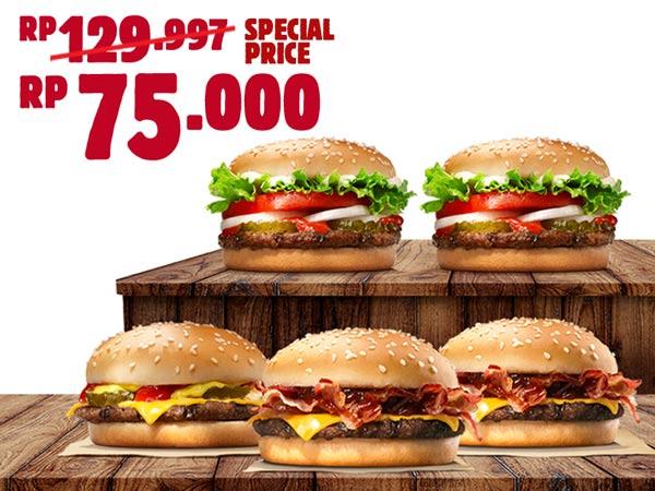 Promo BURGER KING Terbaru 5 Pcs Cuma Rp 75.000
