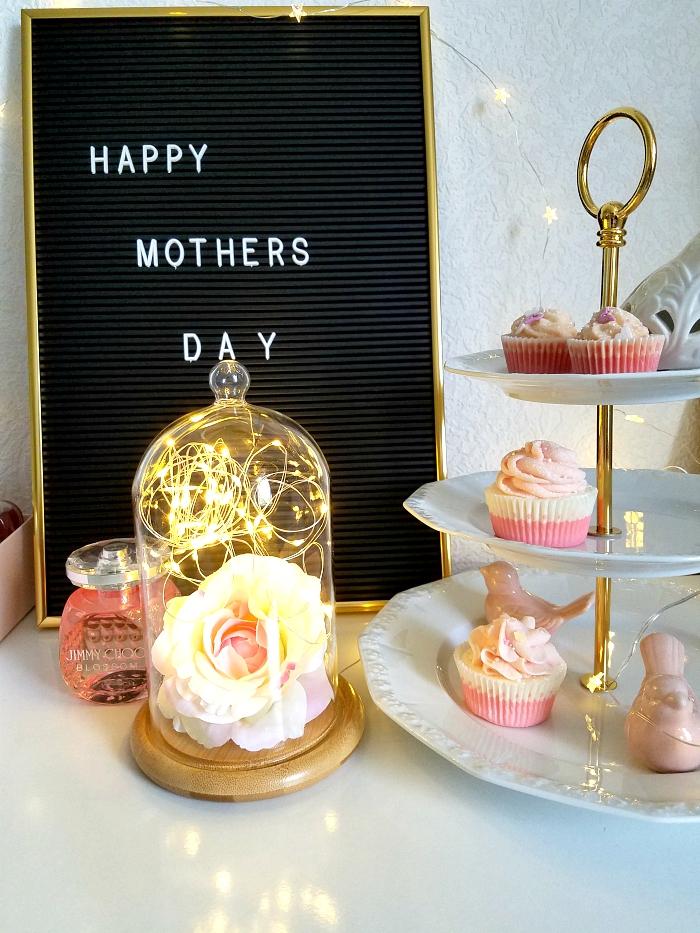 Geschenkidee Muttertag 2018 - Glasglocke mit Micro Lichterkette von Lights4Fun & schnelle DIY Idee unter 20 Euro 1