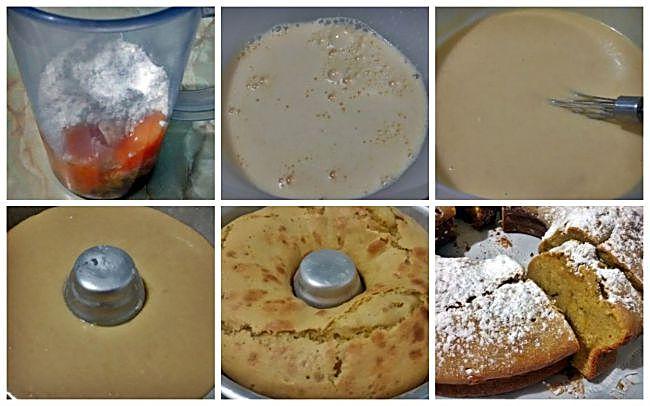 Preparación del bizcocho de mandarina y chocolate blanco