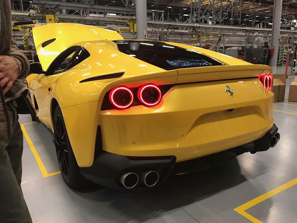 new ferrari 812 superfast looks the business in yellow carscoops. Black Bedroom Furniture Sets. Home Design Ideas
