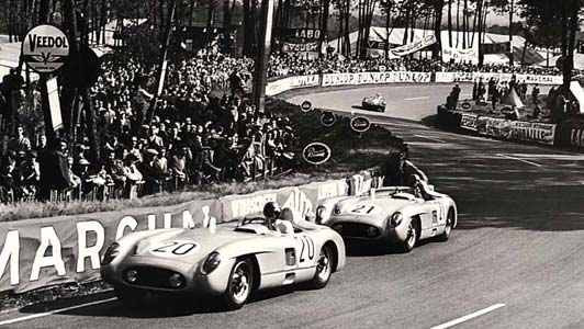 24 Hours of Le Mans 1955 large photograph, available in the collection of l'art et l'automobile