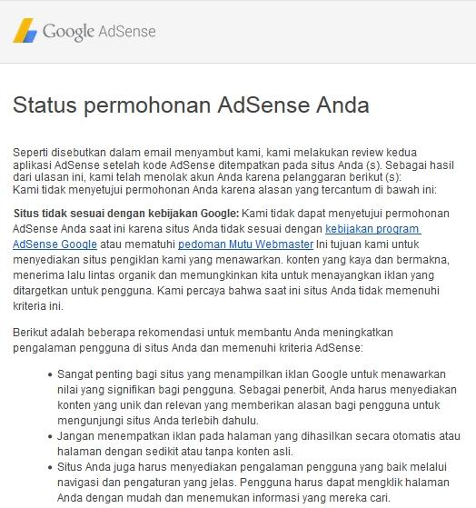 Mengatasi Masalah Situs Tidak Sesuai Kebijakan Google Adsense