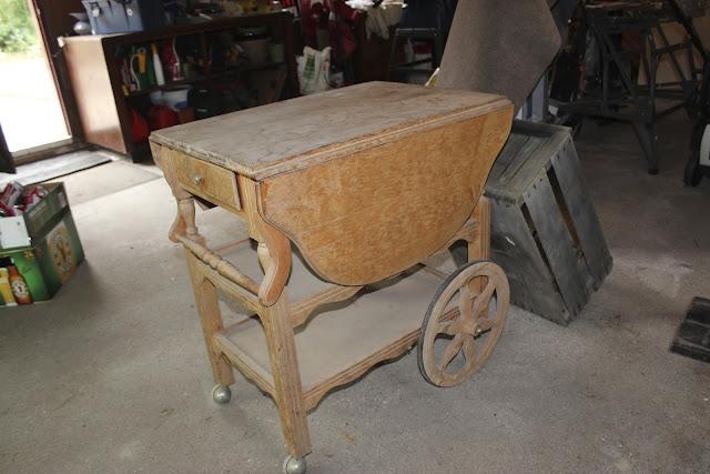 tea cart makeover before
