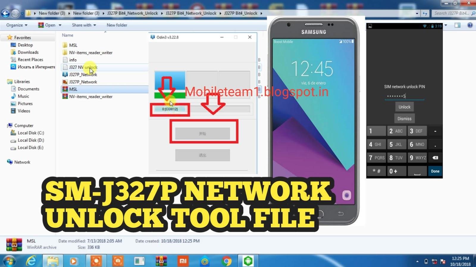Mobileteam1: SM-J327P Samsung galaxy J3 Emerge NETWORK