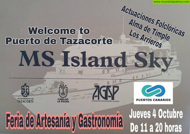 """El crucero """"Ms Island Sky"""" llega al Puerto de Tazacorte"""