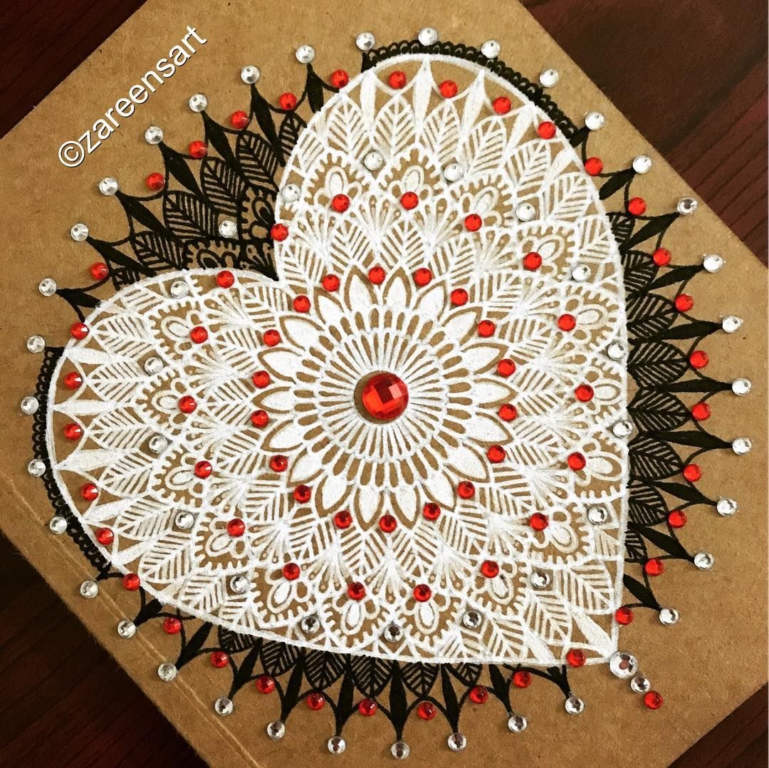 05-Heart-journal-and-crystals-Mandala-Drawings-on-Journals-Calendar-and-Boxes-www-designstack-co
