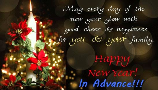 Advance Happy New Year 2016 Wishes Images 3D