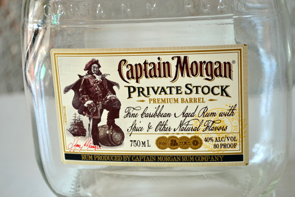 This Captain Morgan Private Stock bottle will make for an amazing soap dispenser.