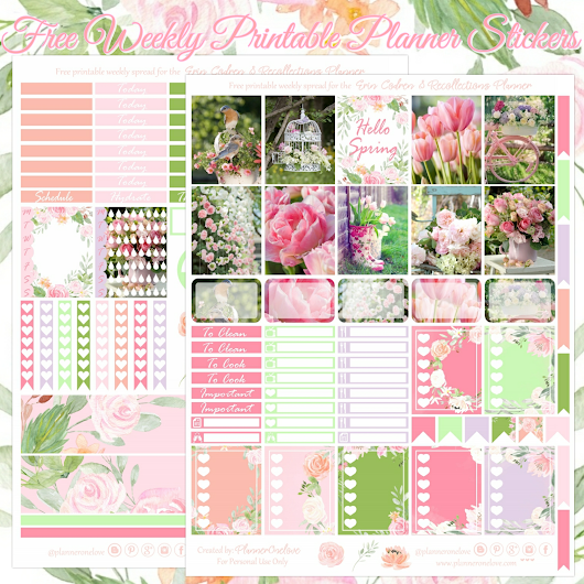 Planner Onelove: Free Hello Spring Printable Planner Stickers For The Erin Condren & Recollections Planner