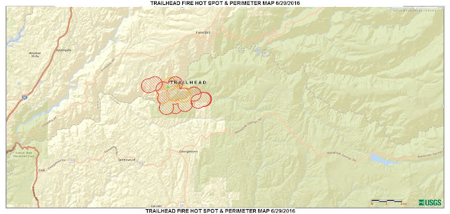 Trailhead Fire Map - CA-NEU 6/29/16 1215:  - El Dorado National Forest