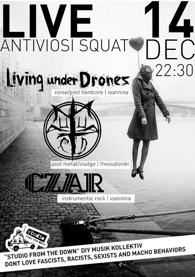 [News] Living Under Drones, Autumn Acid, CZAR live@Antiviosi [14.Dec.'17]