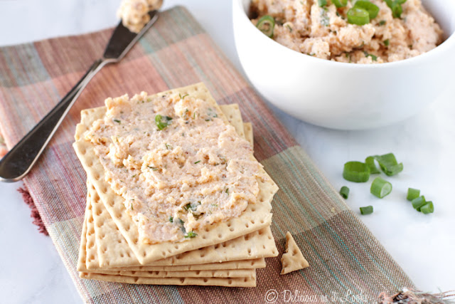 Smoked Salmon & Cheddar Spread {Low-FODMAP}  /  Delicious as it Looks